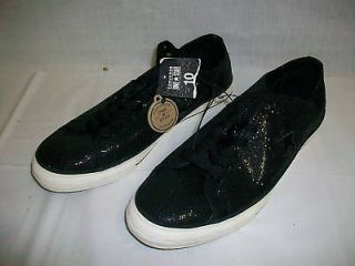 NWT Womens CONVERSE ONE STAR Shoes 5 1/2 Black Sparkly