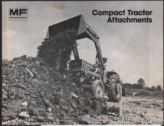 Massey Ferguson Compact Tractor Attachments Brochure Leaflet