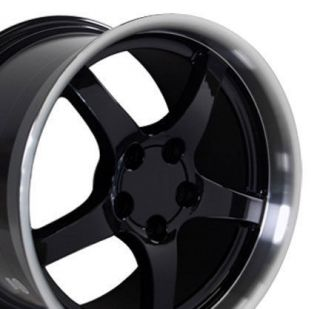 17 18 9.5/10.5 Black C5 Deep Dish Wheels Rims Fit Camaro Corvette