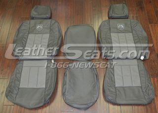 2008 Dodge Ram Mega Cab Leather Seat Covers Custom Upholstery NEW 2007