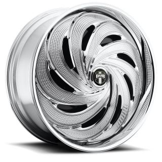 22 DUB SPIN FLO Wheel SET Chrome Spinner 22x9.5 RWD 5 & 6 LUG RIMS