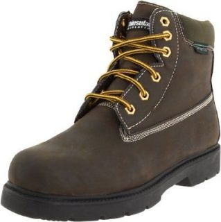 MENS DEER STAGS COMFORT FOOTWEAR TRACTOR 11M DARK BROWN CRZY