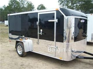 NEW 6x12 6 x 12 Motorcycle Enclosed Cargo Trailer w/ Ramp