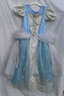 CINDERELLA PRINCESS COSTUME DRESS BLUE GOWN SIZE Medium