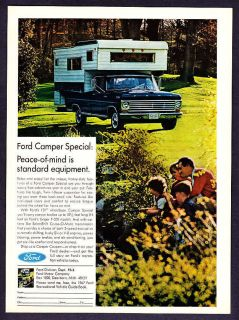 1967 Ford Camper Special photo Peace of Mind​ print ad