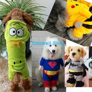 New Pet Dog Spring Winter Costume Cosplay All in one Pikachu Stitch