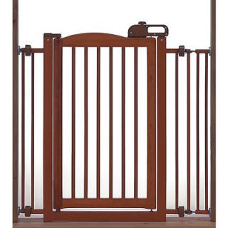 Richell One Touch Wood Pet Dog Gate Autmn Matte #R94118