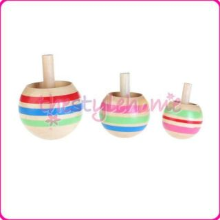 Colorful Cool Funny Spinning Top Kids Toy 3 Sizes Can Spin Two Sides