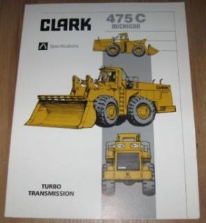 Clark Michigan 475C Turbo Transmission Loader Brochure