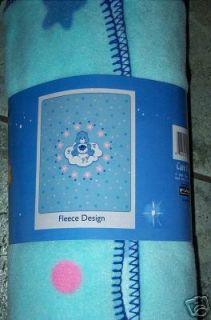 CARE BEARS FLEECE Throw Blanket Large 50 X 60 grumpy