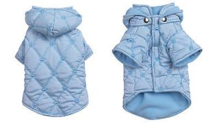 chi poodle maltese BLUE QUILTED DOG COAT jacket clothes apparel S