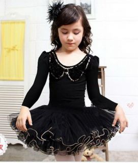 Girls Kids Party Fairy Ballet Dance Tutu Skirt Skate Dress 3 4Y