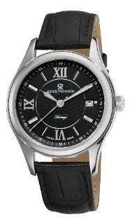 Revue Thommen Mens 21012.2537 Heritage Mens Black Leather Strap
