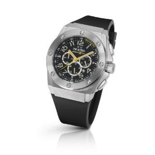 TW Steel Mens TW 680 CEO Tech Black Rubber Chronograph Dial Watch