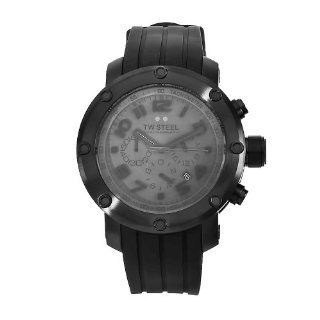 TW Steel Mens TW128 Grandeur Tech Black Rubber Chronograph Dial Watch