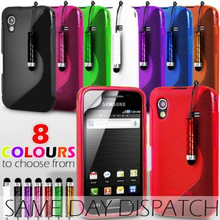 GEL COVER CASE FOR SAMSUNG GALAXY PHONE+SCREEN PROTECTOR+STYL​US