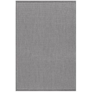 Couristan Recife Saddle Stitch Grey/White Rug   1001/3012