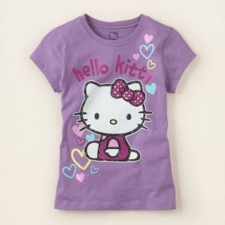 girl   Hello Kitty purple hearts  Childrens Clothing  Kids Clothes