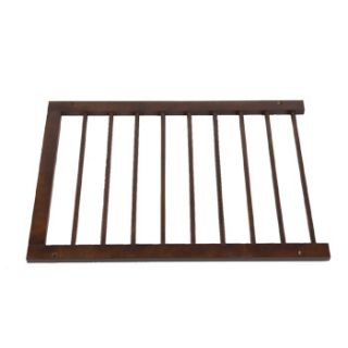 Cardinal Gates Walnut Step Over Pet Gate Extension at