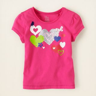 baby girl   short sleeve tops   graphic active top  Childrens