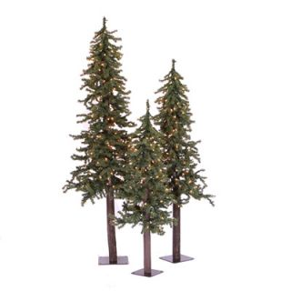 Alpine Christmas Trees Prelit   3 Pack  Meijer
