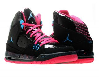 Air Jordan SC 1 (GS) Black/Blue Pink Girls Basketball Shoes 439655 009