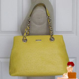 Kate Spade Victoria Falls Maryanne Leather Goldenrod Handbag Yellow