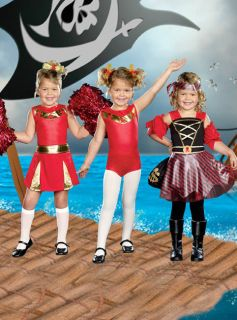 Girl Halloween Party Kids Combo Costume Stunning Cheerleader Pirate