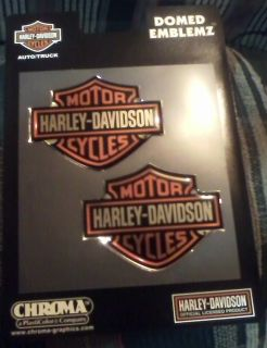 Harley Davidson Chroma Domed Emblemz Decals Stickers for Auto Truck