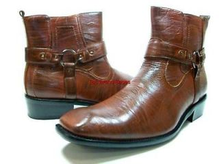 Mens D ALDO Italian Style Brown Dress Casual Boots Shoe