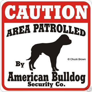 American Bulldog Caution Sign Many More Pet Breed Avail