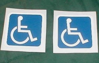 SMALL REFLECTIVE HANDICAP CAR WHEELCHAIR VAN DECALS