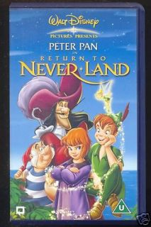 DISNEY   PETER PAN   IN RETURN TO NEVER LAND   VHS PAL