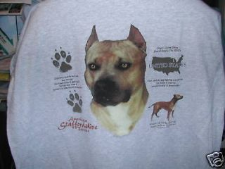 STAFFORDSHIRE BULL TERRIER NEW WITHOUT TAGS UNISEX TEE SHIRT SIZES S