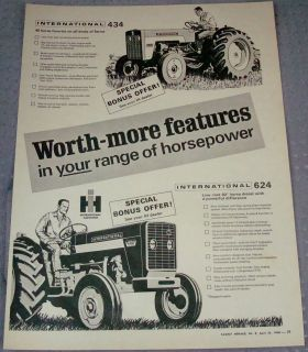 1968 INTERNATIONAL HARVESTER TRACTOR 624 434 HORSEPOWER IH CANADA