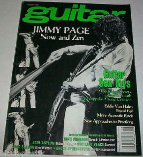 GUITAR August 1995 Led Zeppelin Jimmy Page Now and Zen/Toys/Bruce