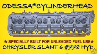 CHRYSLER PLYMOUTH DODGE SLANT SIX 778 3.7 CYLINDER HEAD