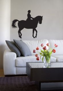 Horse Riding Woman Horse Box/Trailer Wall Art Tattoo Vinyl Decal