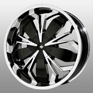 20 inch Black Ice Black Widow Chrome Wheels Rims 4x4.5 4x114.3 CL 2.2