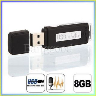 New 8GB USB Digital Audio Voice Recorder Pen Disk Flash Drive 150 hrs