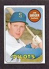 1969 TOPPS #482 Jim Gosger SEATTLE PILOTS EX MINT ( White Letter