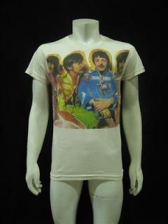 The Beatles John Paul George Ringo Vintage Re Printed T Shirt Mens M