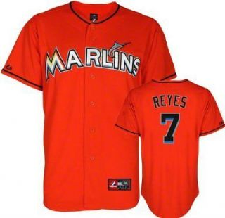 MIAMI MARLINS Jose Reyes XXL Orange SEWN Jersey