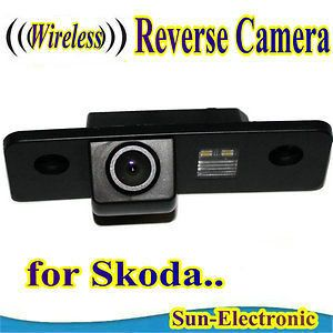 WIRELESS Car Rear View Reverse Camera for SKODA ROOMSTER OCTAVIA TOUR