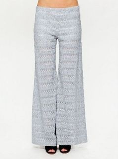 NWT $168 Free People Extreme Knit Flare Pants Wide Leg Navy Pants 2