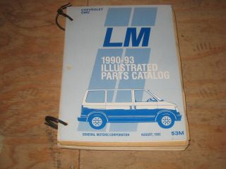 1990 1991 92 93 Chevrolet Astro GMC Safari Van illustrated parts