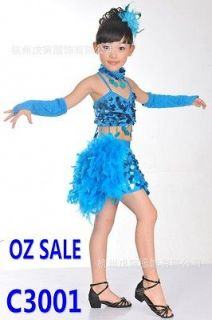 Girls Kids Jazz Latin Tango Samba Party Costume Dance Dress Skirt