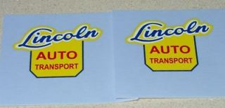 lincoln auto transport semi truck decal set ln 010 time