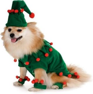 Elf Santas Helper Green Red Cute Dress Up Christmas Holiday Pet Dog