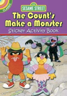 Sesame Street Classic the Counts Make a Monster Sticker Activity Book